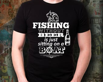 Birthday Gift for fisherman, Gift for Fisherman, Gift for Fishermen, Gift for Beer Lover, Gift for Fishing Lovers, Fishing without beer