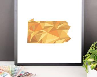 PENNSYLVANIA State Pattern Map Print, Pennsylvania Poster, Pennsylvania Wall Art, Pennsylvania Art, Pennsylvania Gift, Pennsylvania Print