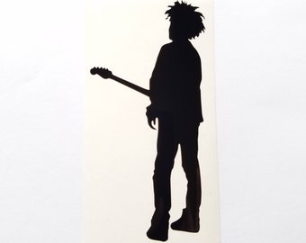 The Cure Robert Smith Boys don't cry vinyl sticker
