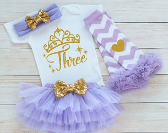 Third Birthday Outfit Girl, 3rd Birthday Girl Shirt, 3rd Birthday Outfit, Tutu Outfit, Birthday Gift, Third Birthday Girl, 3rd Birthday Girl