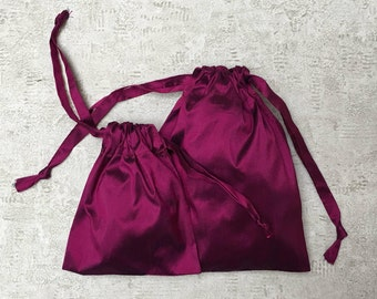Silk - 2 sizes - reusable bags - zero waste smallbags