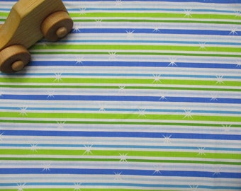 Change Pad Cover - Standard Size - Blue Winter Stripes - Cotton