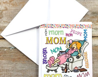 Funny Mothers Day Card - Exhausted Mom - Funny Mothers Day Card for Friend - Mothers Day Card - Mom Mom Gift - Funny Mom Card