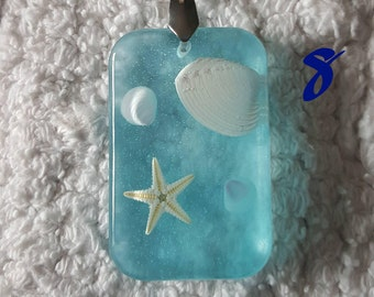 Starfish and Seashell Resin Pendant | Seaside Series