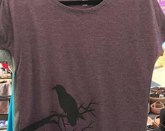 Raven Scoop Neck T-shirt