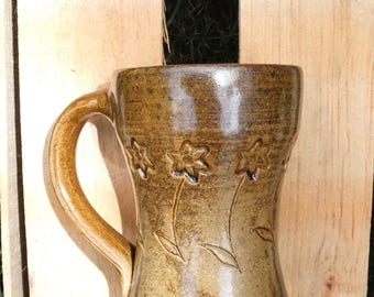 Stamped Flower Mug