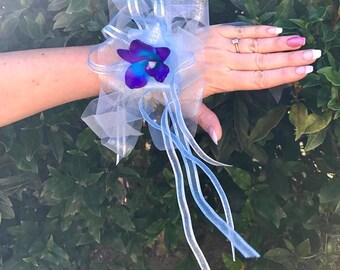 Blue Bridal/Formal Wrist Corsage