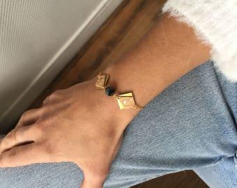 Cork-pearl bracelet-TEKOA-leather