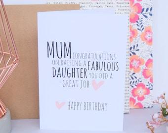 Funny mum birthday card mom birthday card mum birthday card mum birthday card fabulous daughter mom card mom birthday card card for bookmarktalkfo Images