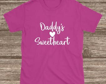 Toddler Valentines Day Shirt - Daddy's Sweetheart - Youth Valentines Shirts - Toddler Shirts - Toddler Girl Valentines