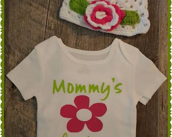 Mommy's Bestie Onesie or Tee with Crochet'd Hat