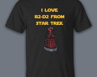 Star Wars Shirt, Mashup Shirt, Star Trek Shirt, Mashup, Funny Shirts, Movie Shirt, Dr Who Shirt, TV Shirt