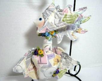 Victorian Angel Cloth Ornament