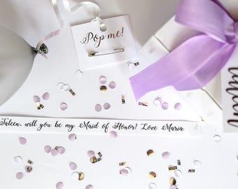 Will you be my Bridesmaid? Balloon box - Lavender