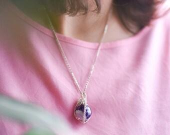 amethyst quartz crystal pendant