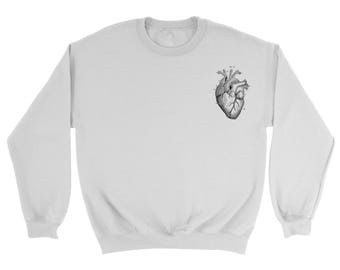 anatomical heart sweatshirt/ sweater/ studio young anatomical heart
