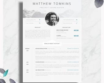"CV Template | Creative Resume Template | Modern CV + Cover Letter + Advice | Printable for Word | The ""Aurelius"" CV Template"
