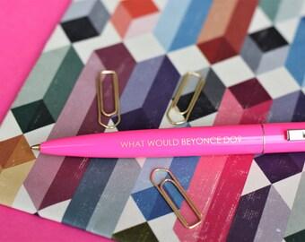 Mix and match set of 3 pens, motivational pen gift, slogan pen, office gift