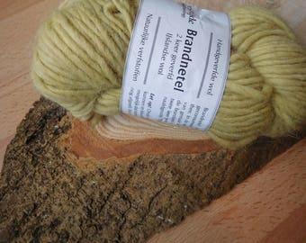 Hand dyed 100% Icelandic wool, nettle