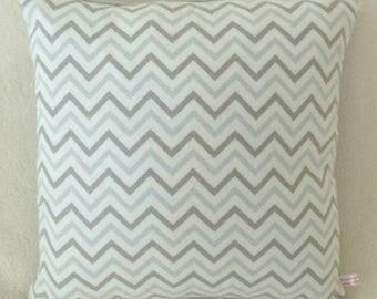 Grey Zig Zag Tribal Pillow