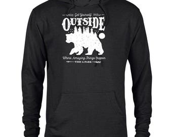 Get Yourself Outside National Park Adventure Unisex French Terry Hoodie