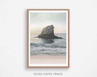 Sea Print, Ocean Art, Beach Wall Art, Water Decor, Coastal Print, Turquoise Waves, Sea Instant Download, Beach Photo, Seascape Photography