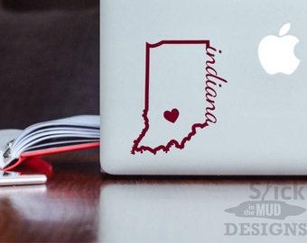 Indiana University Permanent & Custom State Vinyl Decal