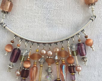 Beautiful Beaded Necklace and Earring Set.
