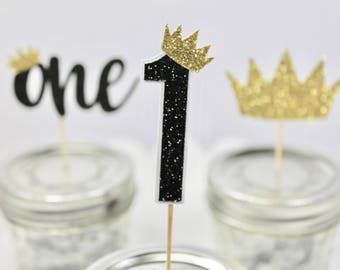 12 ct. Wild One Cupcake Toppers – Wild One Birthday Party – Wild One Decorations – Crown Decorations – Birthday Cupcake Toppers