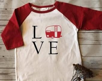 Camper Love/Happy Camper/Valentine Shirt, Valentine's day gift for her