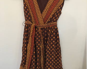 Vintage Silk Wrap Dress