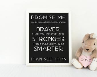 Pooh Art Print, Positive Quote, AA Milne Quote, inspirational poster, Winnie the Pooh quotes, Pooh Wall Art, encouraging art print