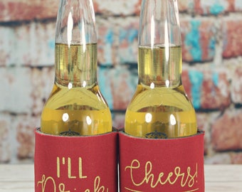 Wedding Can Coolers I'll Drink to That can cooler, Custom Wedding Can Cooler, Cheers Can Cooler, custom can cooler, Wedding Favors