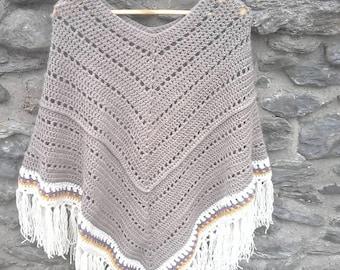 Crochet Poncho 100% handmade wool