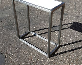 modern side table skinny table narrow table console