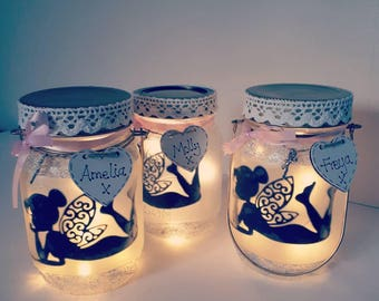 Fairy in a jar, Fairy Lights Jar, Personalised, Night Light, Fairy Light Jar, Magical Fairy,  Fairies
