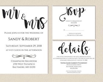 wedding invitations classy