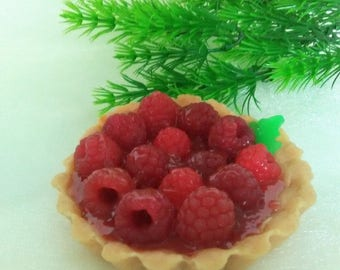 Handmade soap, soap gift, gift to the girl, washed cookies, shortcake, soap, soap food, pie, raspberry pie, raspberry.