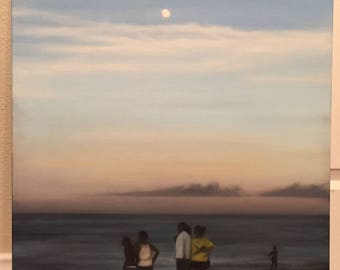 original oil painting of Virginia Beach