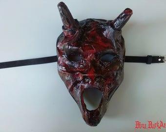 Little red devil mask, Halloween mask, Wearable mask