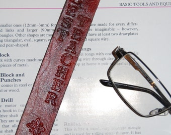 Best teacher leather bookmark pencil design.