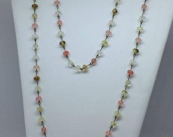 Multi-Coloured Tourmaline Beaded Necklace