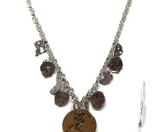 Steampunk Vintage Watch Parts Necklace