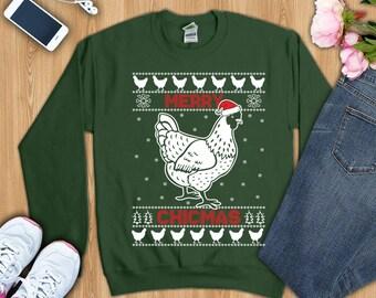 Chicken mom shirt, chicken mom  christmas shirt, crazy chicken lady shirt, chicken lady gift, clucker shirt, clucker gift,chicken sweatshirt