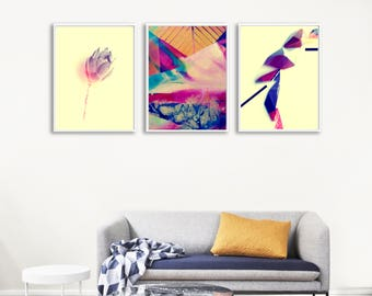 Abstract Gallery Wall Printable, Apartment Gallery Wall, Wall Arranging, Wall Art Package, Set of 3 Gallery Wall Prints, Gallery Wall Bundle