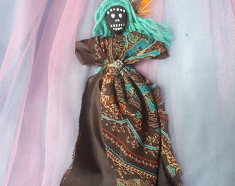 Voodoo Doll Spiritual Healer Strength Wisdom Authentic New Orleans Altar Doll Handmade Vodou Poppet Art Doll One of a kind