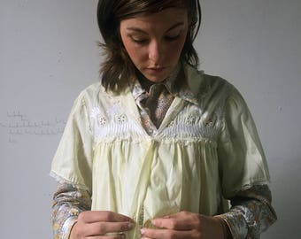 Vintage Canary Yellow House Coat/Night Gown