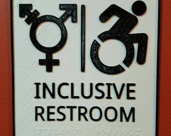 from Gannon third bathroom in braille for transgender