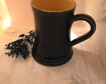 Denby Vintage Coffee Cup - 1950s Denby Coffee Cup in Blue