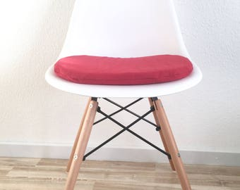 Red Padded seat cushion-red chair cushion-Soft Pillow-chair pad for Eames chair-Eames chair-pillow-Red pillow
